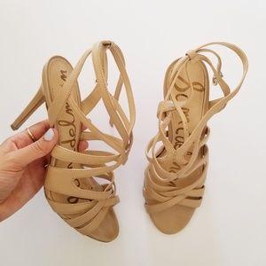 Sam Edelman Nude Strappy Stiletto Heels